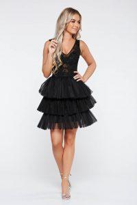 rochie dantela cu volane