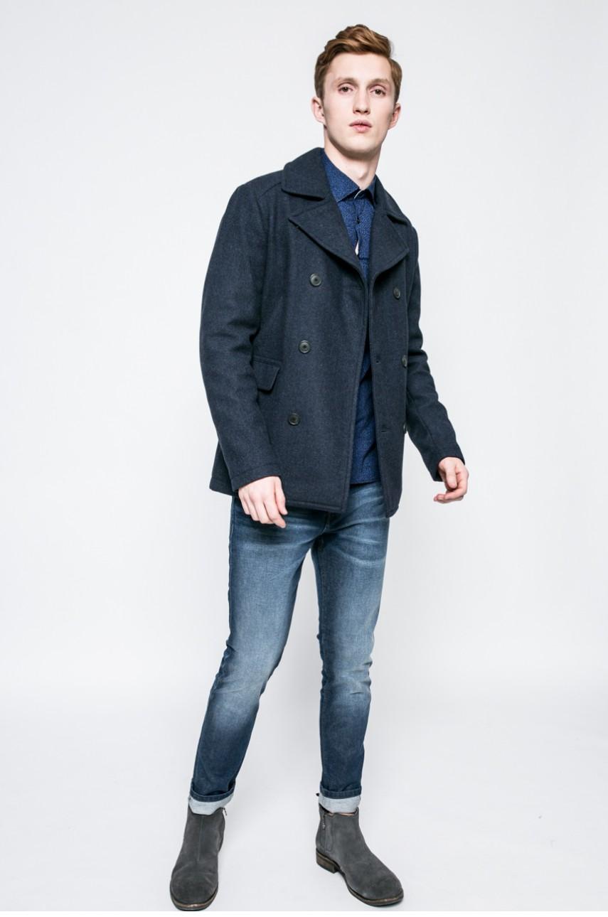 palton lana barbati cu nasturi