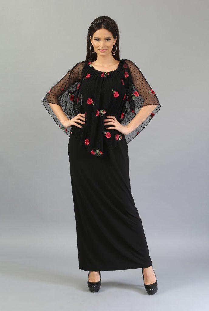 Rochii cu imprimeuri florale  - neagra