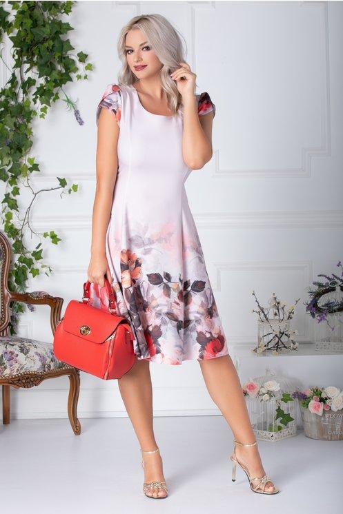 Rochii cu imprimeuri florale  - roz
