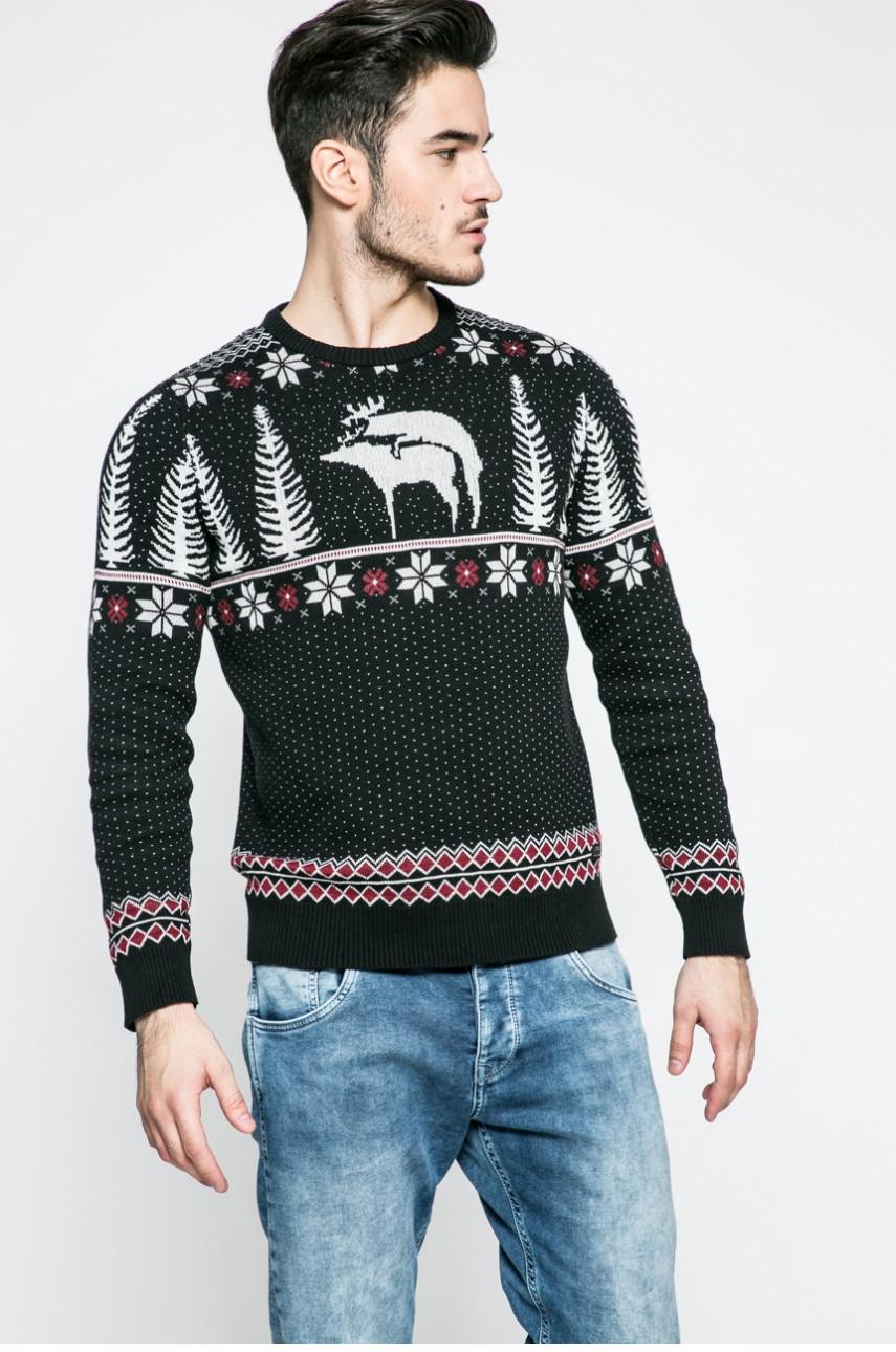 pulover craciun amuzant gri