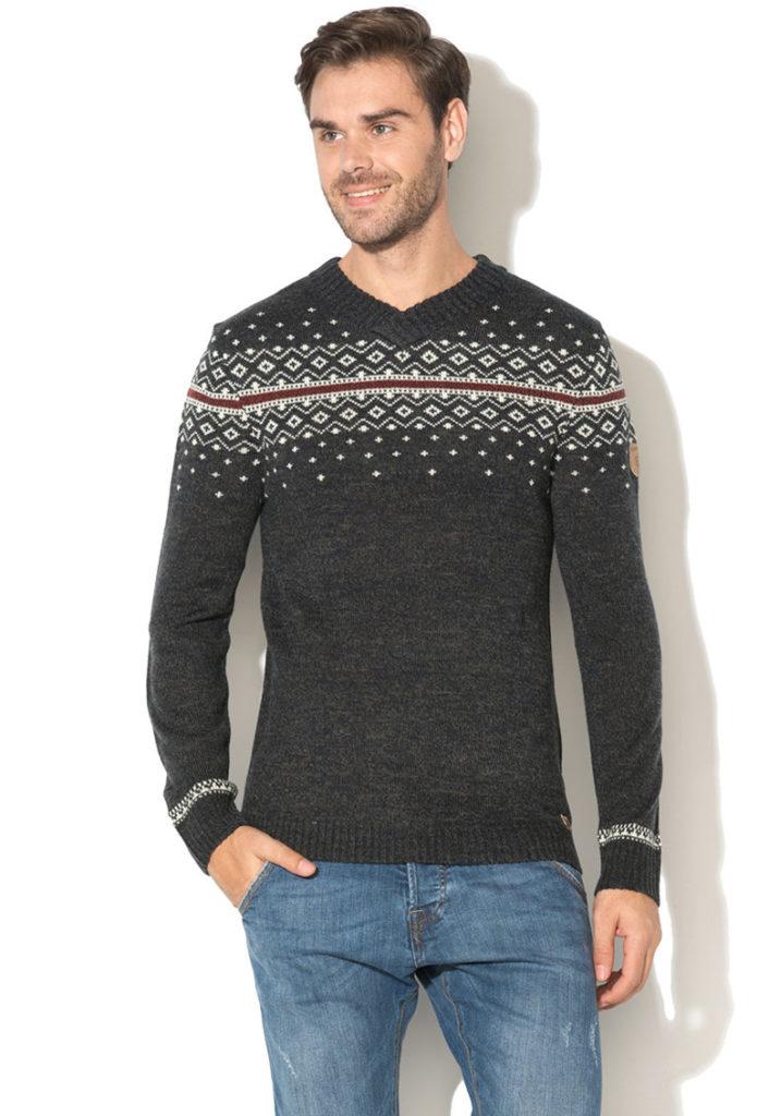 pulover craciun fulgi de zapada