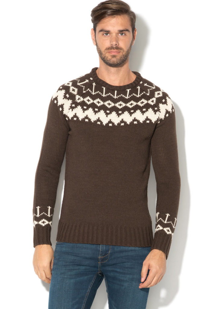 pulover craciun geometric