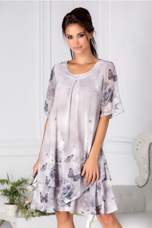 rochie plus size flori