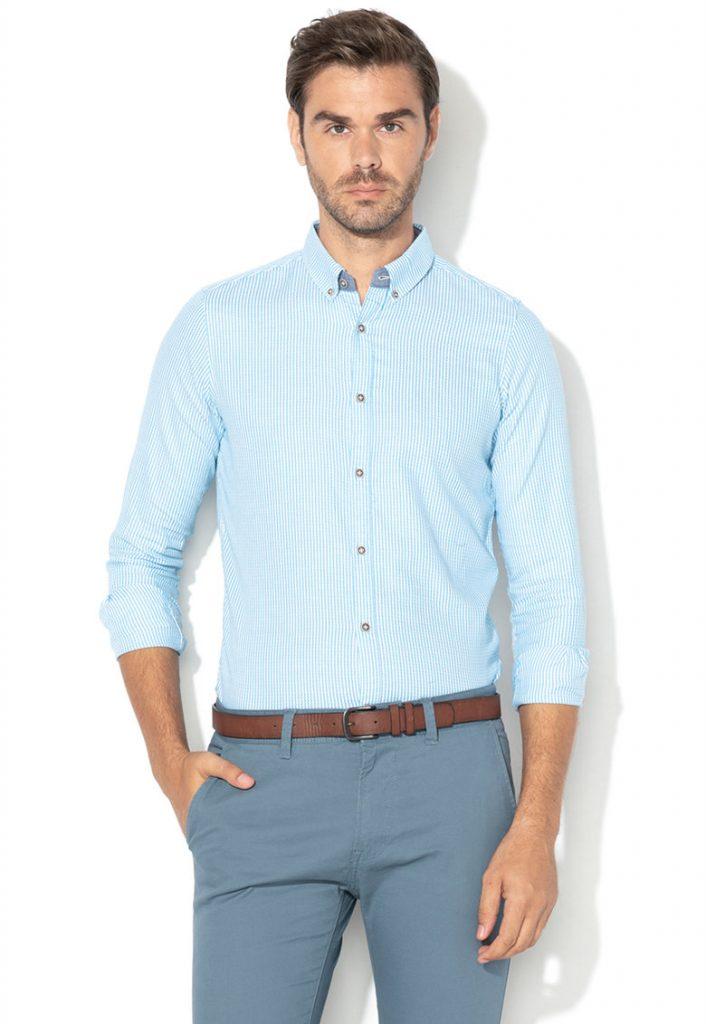 Camasa barbati casual - clasica - albastra