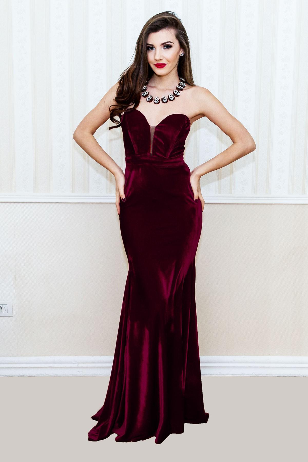 rochii de toamna elegante catifea 1
