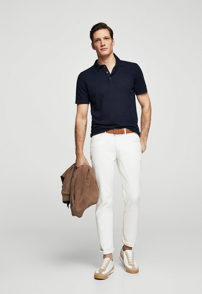 tricouri barbatesti polo stil smart casual inchis