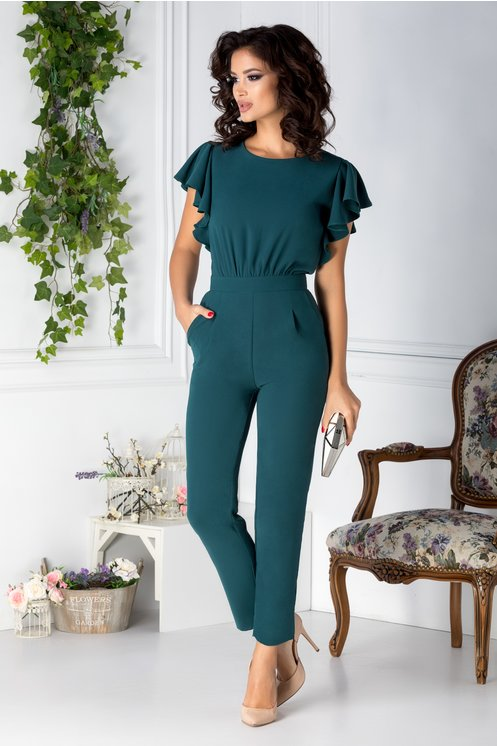 Salopete dama casual -verde