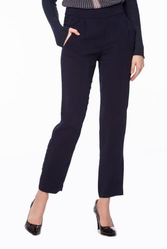 pantaloni office dama clasici bleumarin