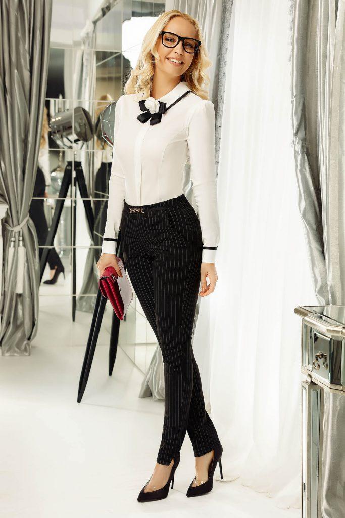 pantaloni office dama in dungi