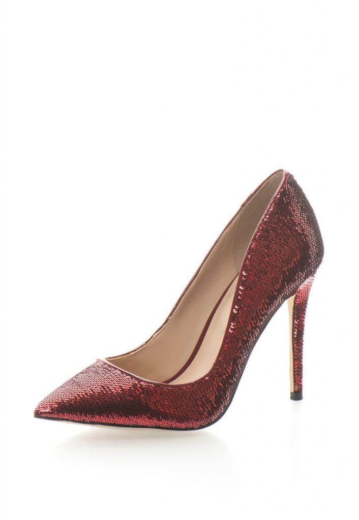 Pantofi rosii - paiete