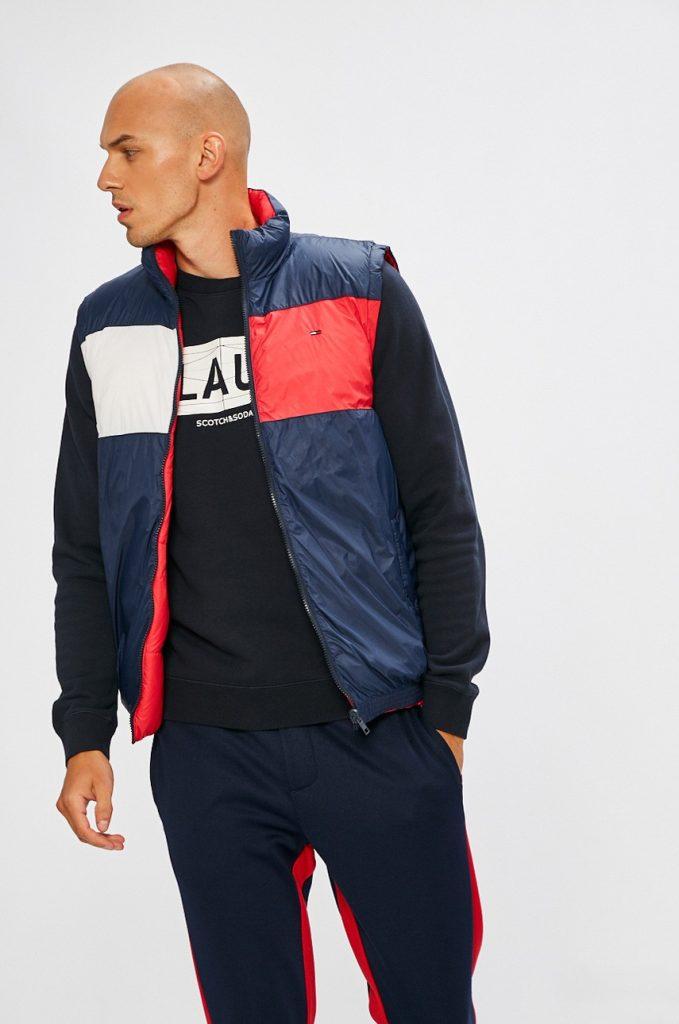 Vesta barbati sport - albastru-rosu