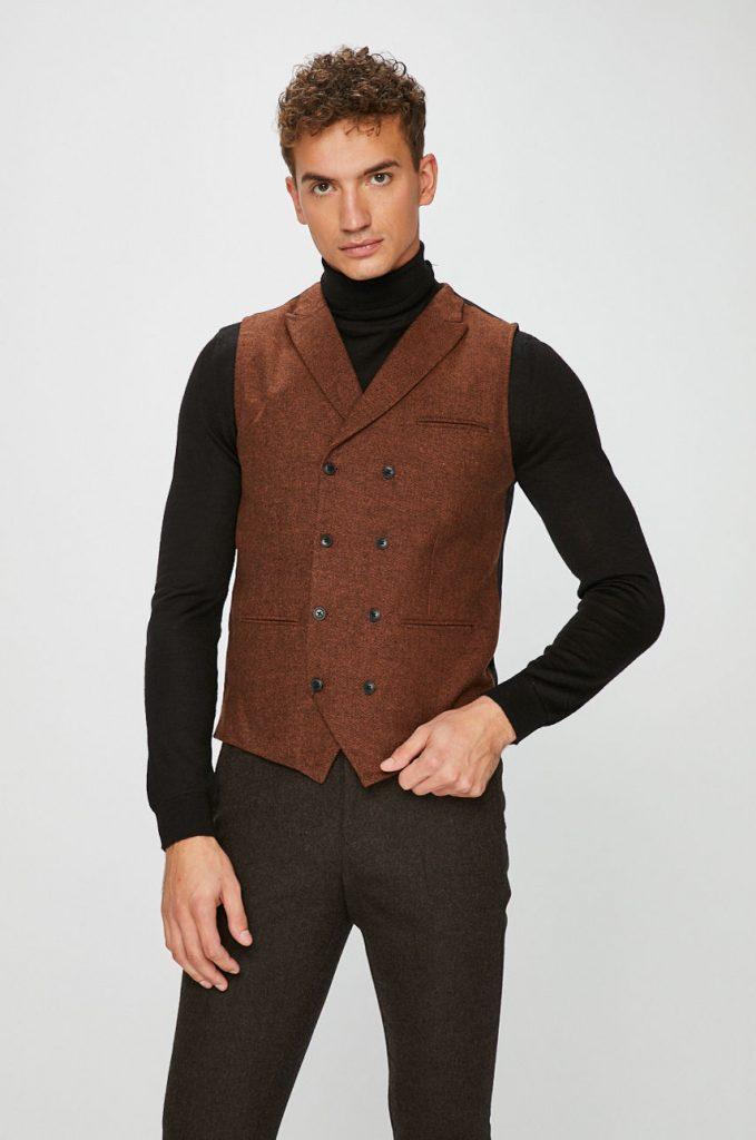 Vesta eleganta barbati de stofa