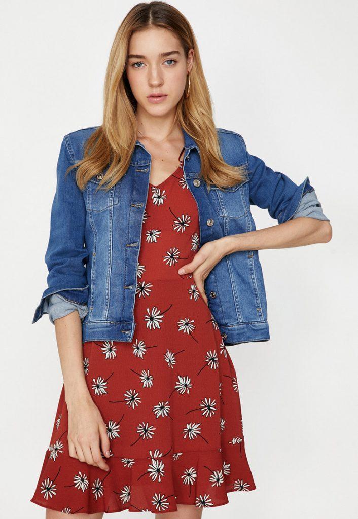 geaca de blugi dama - floral