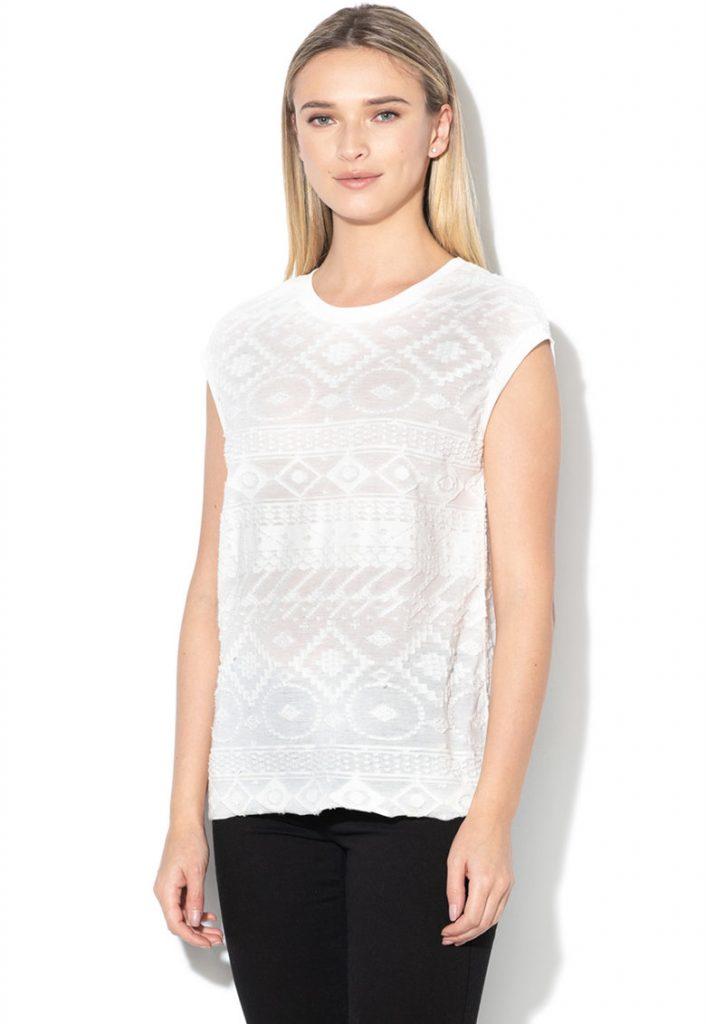 tricouri dama elegante - albe
