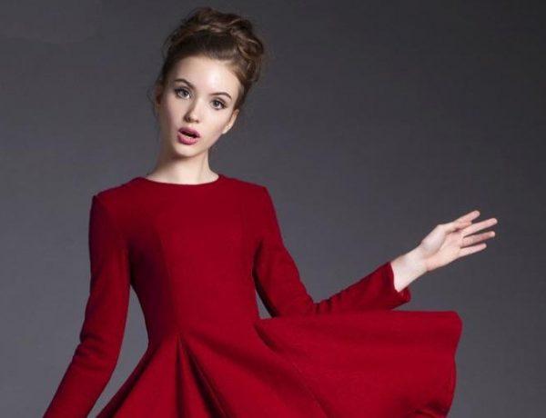 rochii rosii lungi