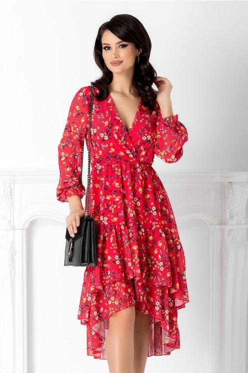 rochii rosii lungi cu floricele