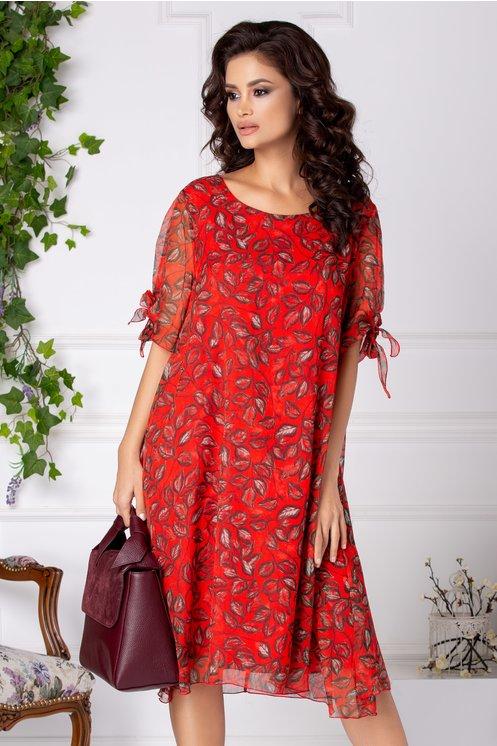 rochii rosii lungi vaporoase