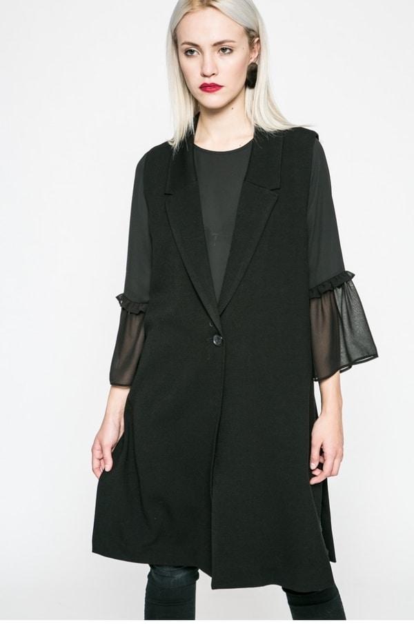 vesta lunga neagra