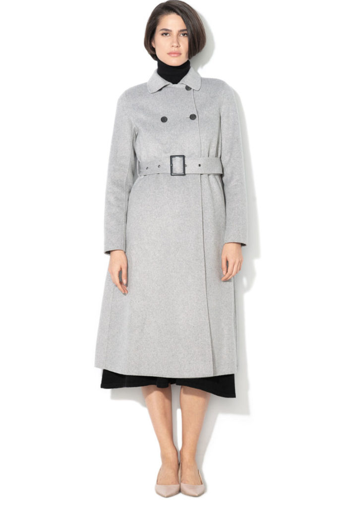 palton gri lung