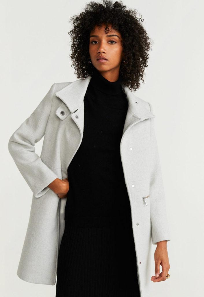palton gri tunica
