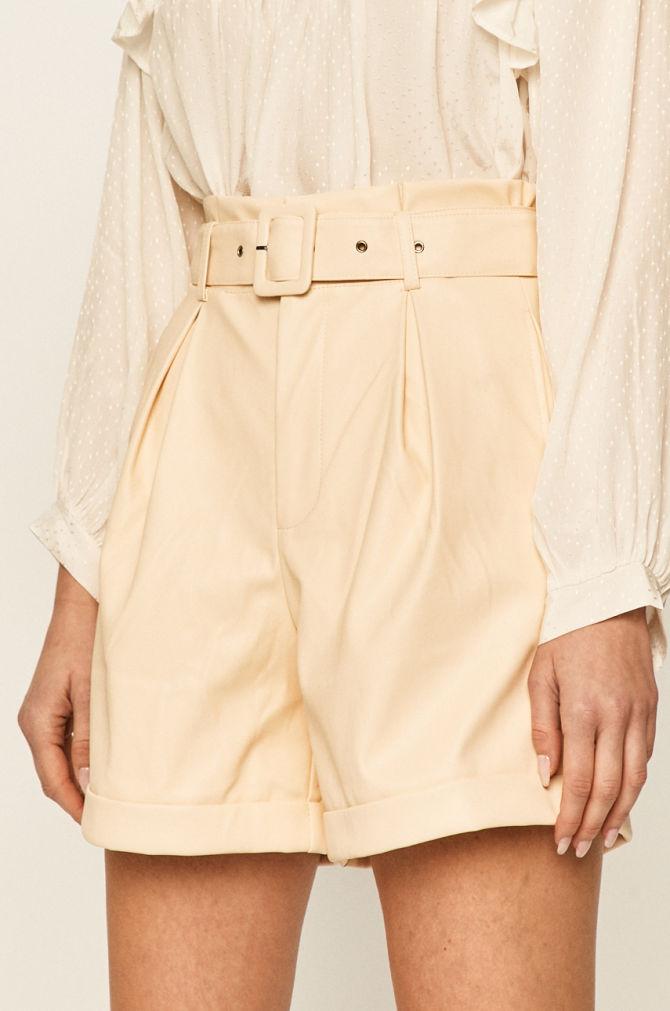 pantaloni de piele pentru femei bej